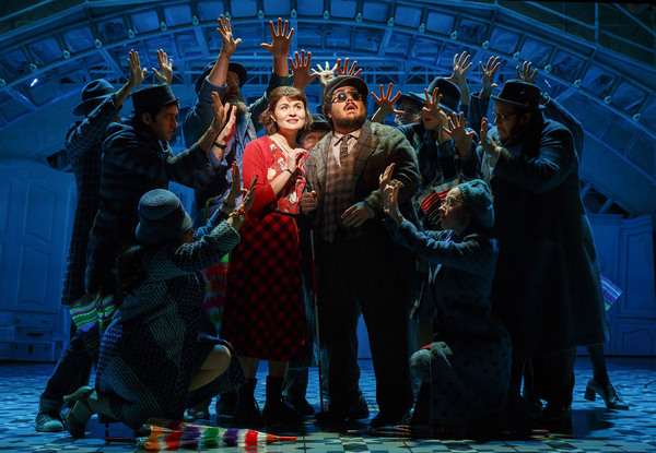 Phillipa Soo, David Andino and the cast of AMELIE