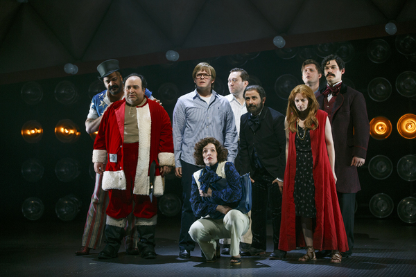The cast of ASSASSINS at Yale Repertory Theatre