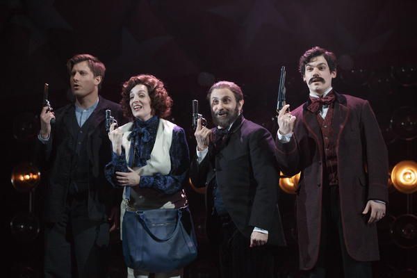 P. J. Griffith, Julia Murney, Stephen DeRosa, and Robert Lenzi