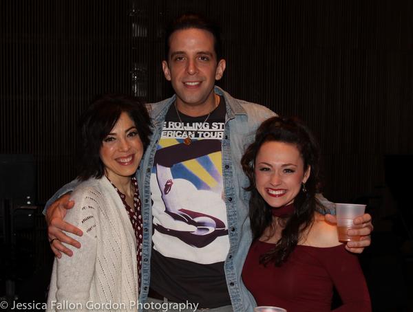 Lucia Giannetta, Nick Cordero and Brittany Conigatti
