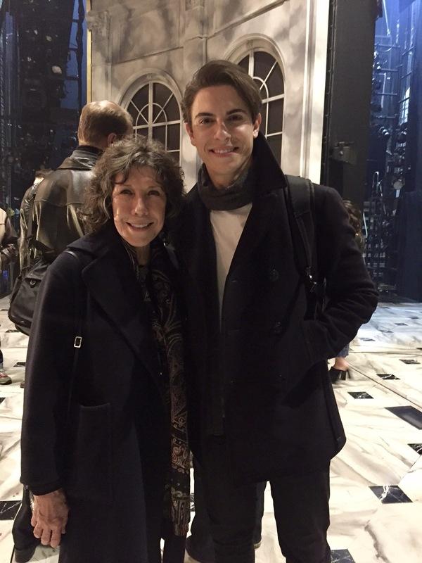 Photo Flash: Lily Tomlin Visits Broadway's ANASTASIA