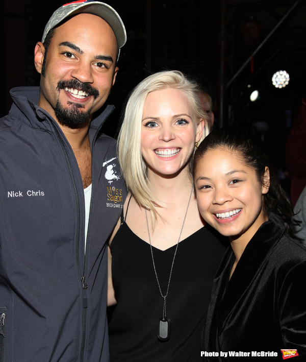 Nicholas Christopher, Katie Rose Clarke and Eva Noblezada