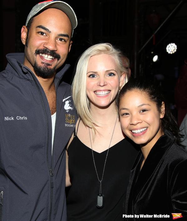 Nicholas Christopher, Katie Rose Clarke and Eva Noblezada