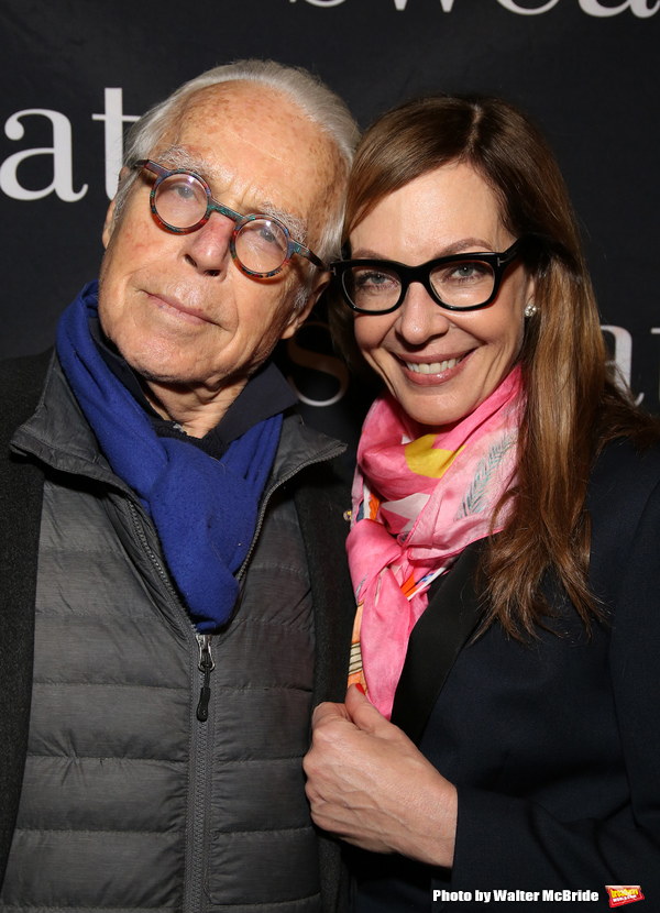 John Guare and Allison Janney