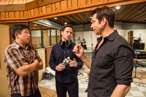 Raymond Lee, Andrew Call, and Andy Karl