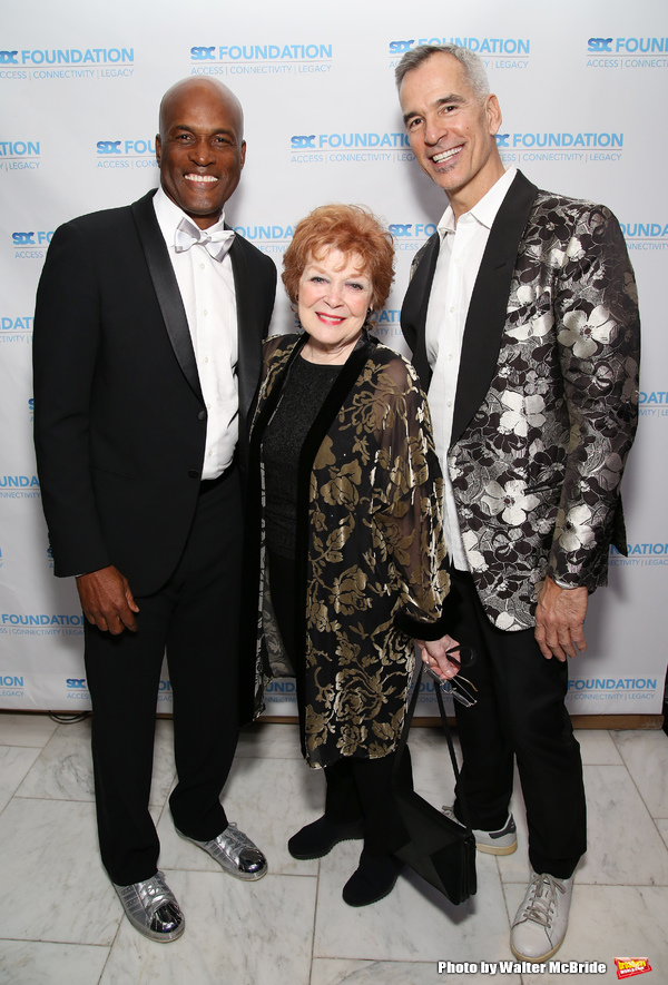 Kenny Leon, Anita Gillette and Jerry Mitchell