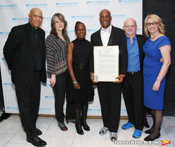 Oz Scott, Pam MacKinnon, Chirlane McCray, Kenny Leon, Michael Wilson and Laura Penn Photo