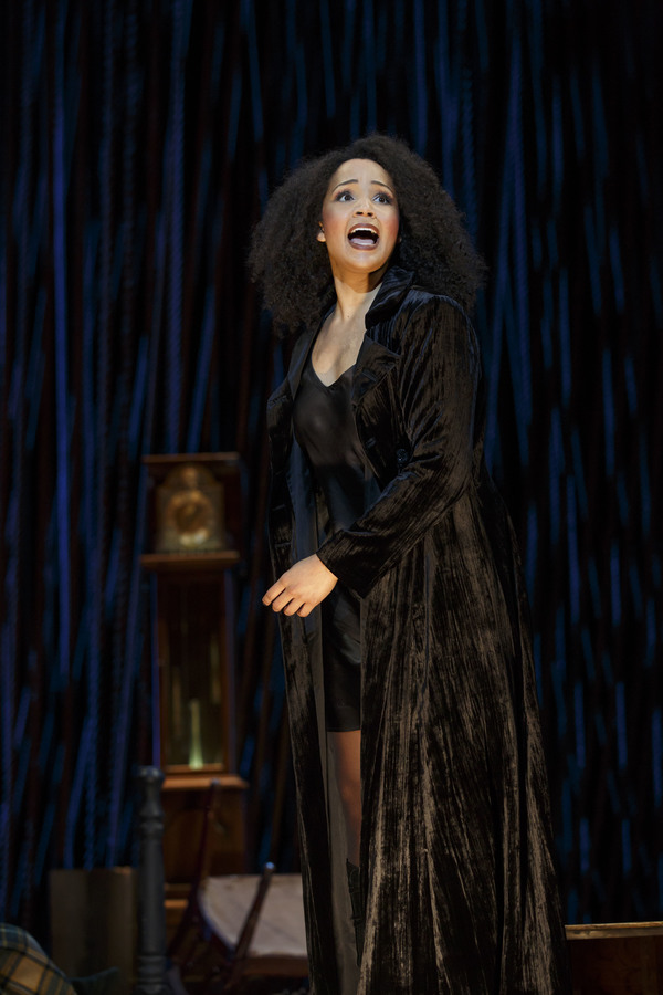 """Stephanie Umoh as the Witch in the Fiasco Theater production of """"Into the Woods,� which plays April 4 through May 14, 2017, at Center Theatre Group/Ahmanson Theatre. For tickets and information, please visit CenterTheatreGroup.org or call (213) 972-44"""