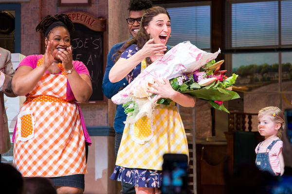 Photo Coverage: Sara Bareilles, Will Swenson, Chris Diamantopoulos Take First Bows in WAITRESS