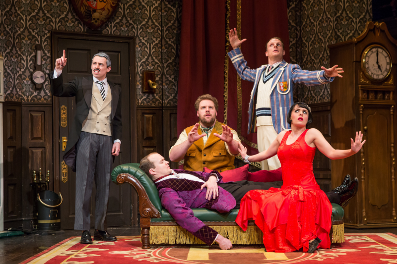 Bww review brit farce the play that goes wrong literally for Farcical comedy plays