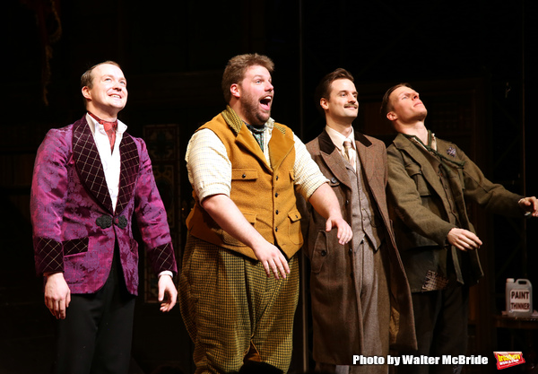 photo coverage  the play that goes wrong takes mishap