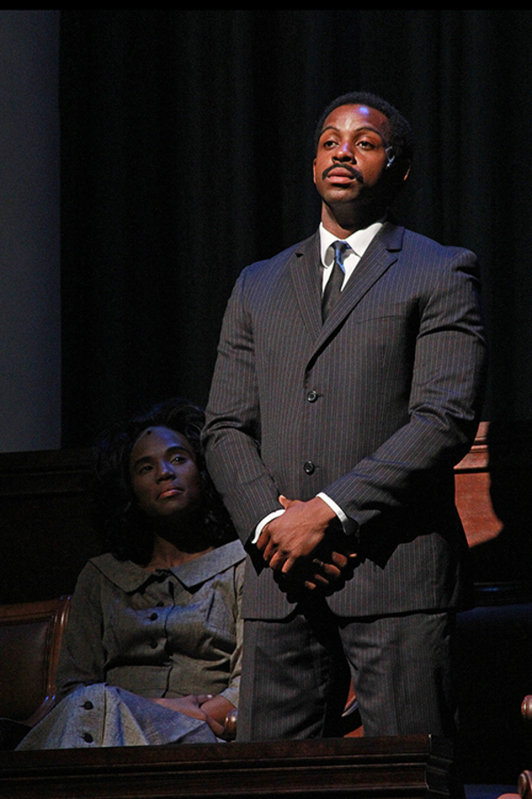 Candice Singleton as Coretta Scott King and Marckenson Charles