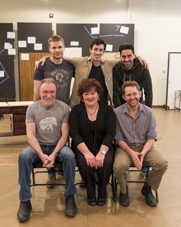 (top row) Cast members Josiah Bania, Stephen Stocking and Ramiz Monsef; (bottom row) cast members Patrick Page, Stephanie McVay and Todd Weeks