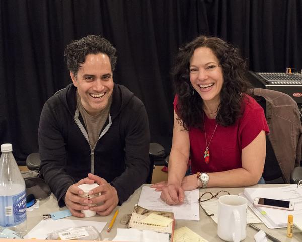 Playwright Rajiv Joseph and director Giovanna Sardelli