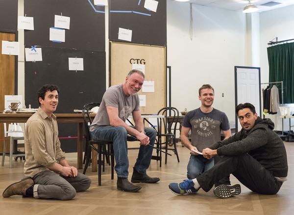 Cast members Stephen Stocking, Patrick Page, Josiah Bania and Ramiz Monsef