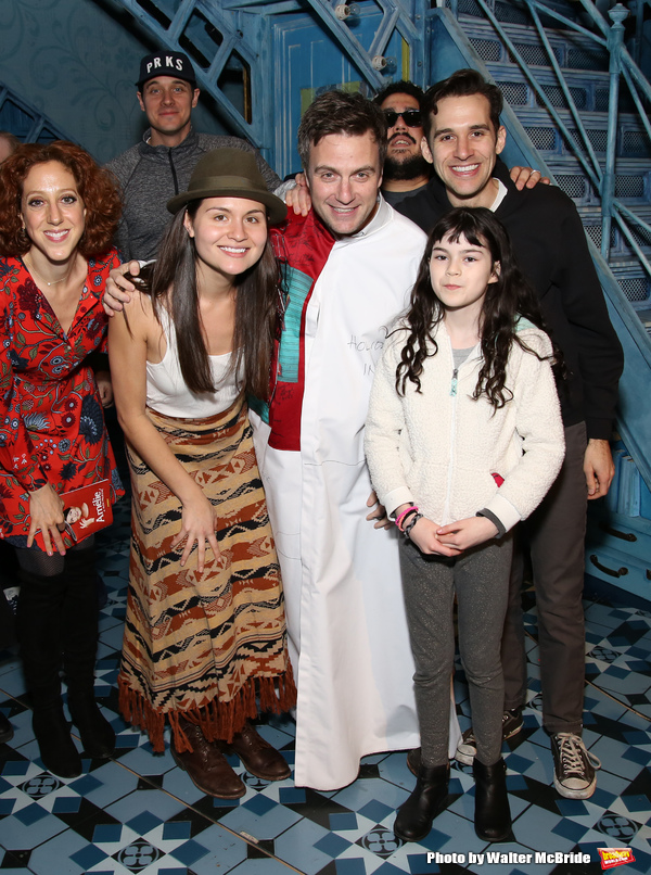 Alison Cimmet, Heath Calvert, Phillipa Soo, Manoel Felciano, David Andino, Adam Chanler-Berat and Savvy Crawford