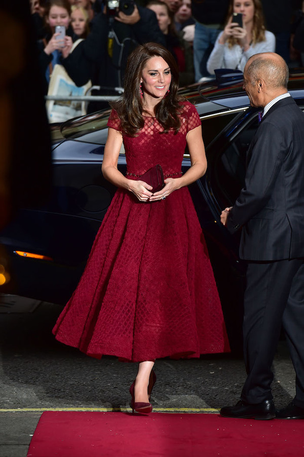Catherine, Duchess of Cambridge arrives at The Opening Night for 42nd Street at The Theatre Royal Drury Lane, London, England. 4th April 2017. Photo: Joanne Davidson/SilverHub 0208 004 5359 sales@silverhubmedia.com