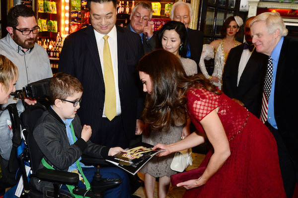 The Duchess of Cambridge greets Ollie Duell from Each (East Anglia Children's Hospice)