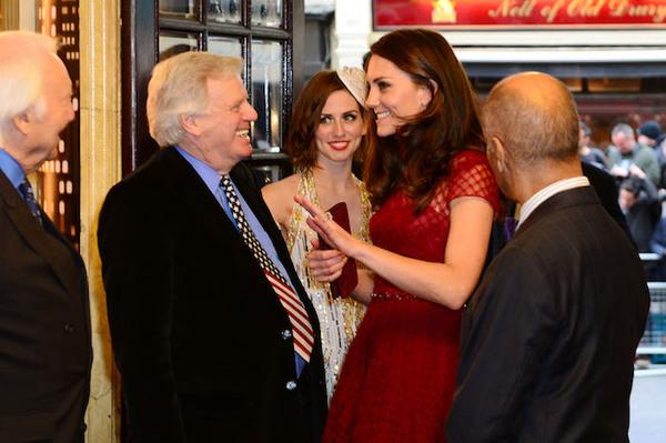 The Duchess of Cambridge and Michael Grade