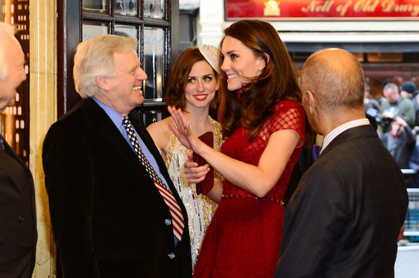 The Duchess of Cambridge and producer Michael Grade