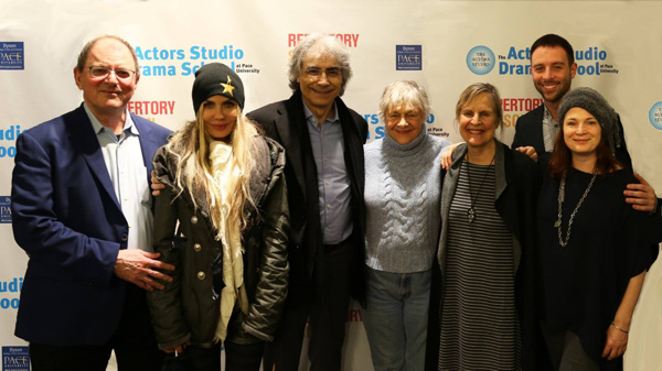 Faculty and administration of the Actors Studio Drama School along with dignitaries of Actors Studio, including Estelle Parsons, at opening night of the 2017 Actors Studio Drama School Repertory Season.