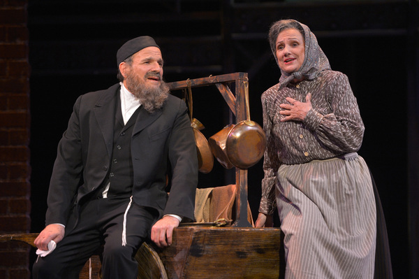 From L-R: Avram (Donald Corren) and Rachel (Darlene Popovic) reflect on their potential life together in TheatreWorks Silicon Valley's Rags, a musical saga of immigrant America. Rags is presented at the Mountain View Center for the Performing Arts April n