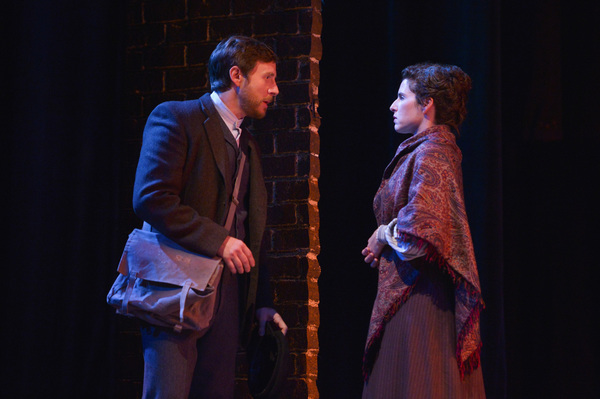 From L-R: Saul (Danny Rothman) tries to convince Rebecca (Kyra Miller) to join the union in TheatreWorks Silicon Valley's Rags, a musical saga of immigrant America. Rags is presented at the Mountain View Center for the Performing Arts April now through 30