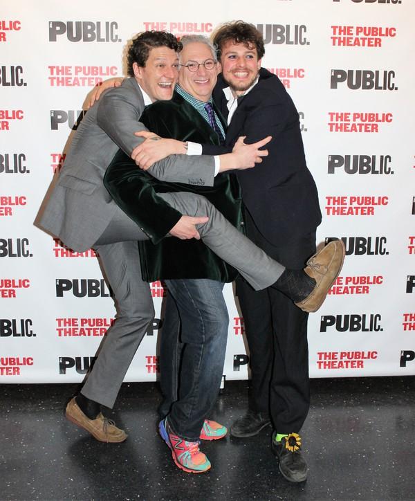 Gabriel Ebert, Harvey Fierstein and Christopher Sears