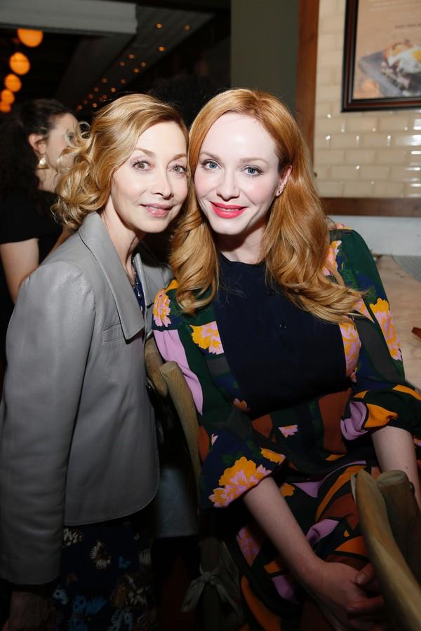Sharon Lawrence and Christina Hendricks