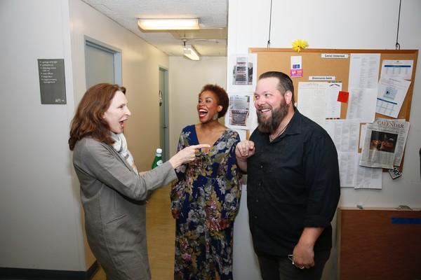 Gates McFadden and Eleasha Gamble and Evan Harrington