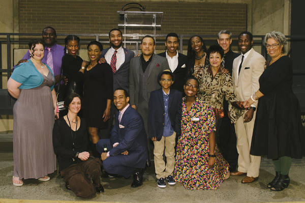 The company of A RAISIN IN THE SUN on opening night at Arena Stage
