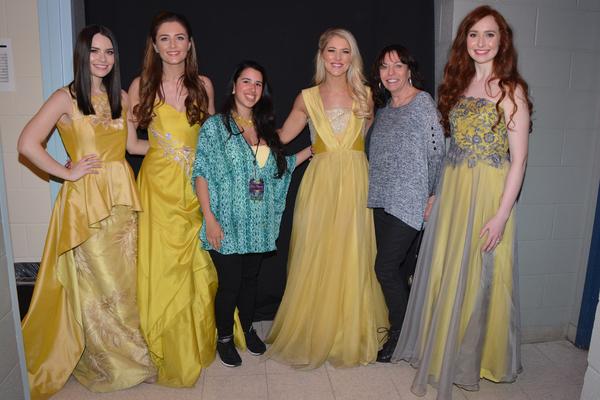 Mairead Carlin, Eabha McMahon, Amanda Cabrera, Susan McFadden, Anita Daly  and Tara McNeill