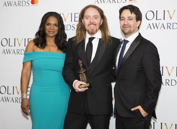 Audra McDonald, Tim Minchin and Lin-Manuel Miranda