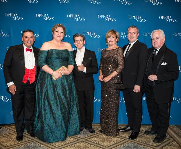Richard J. Miller Jr., Christine Goerke, Robert Carsen, Frederica von Stade, Matthew Polenzani and F. Paul Driscoll