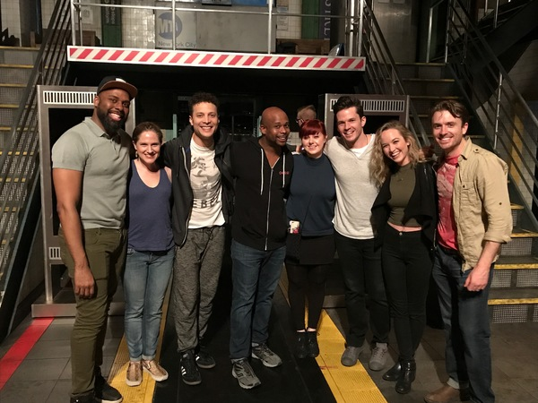 Photo Flash: PITCH PERFECT's Kelley Jakle Stops by Broadway's IN TRANSIT