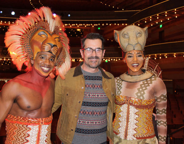 Photo Flash: MODERN FAMILY's Ty Burrell Visits THE LION KING on Tour