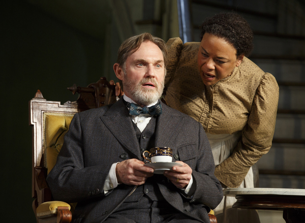 Richard Thomas as Horace Giddens and Caroline Stefanie Clay as Addie in THE LITTLE FOXES. Photo by Joan Marcus