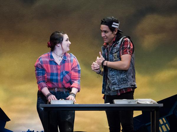 Emma Hunton and Chris Ramirez