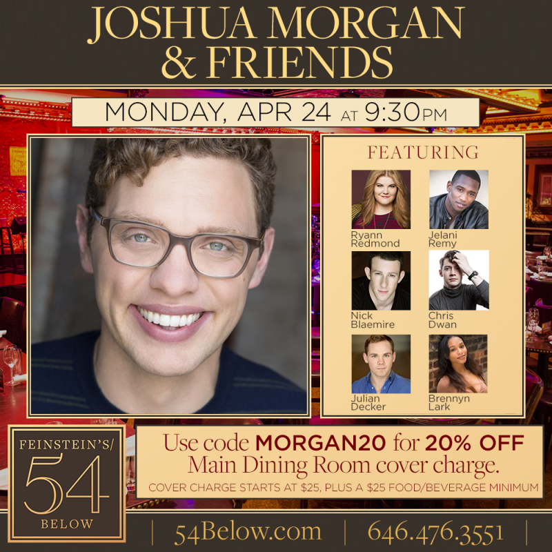 Joshua Morgan and Friends Come to 54 Below
