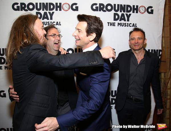 Tim Minchin, Danny Rubin, Andy Karl and Matthew Warchus Photo