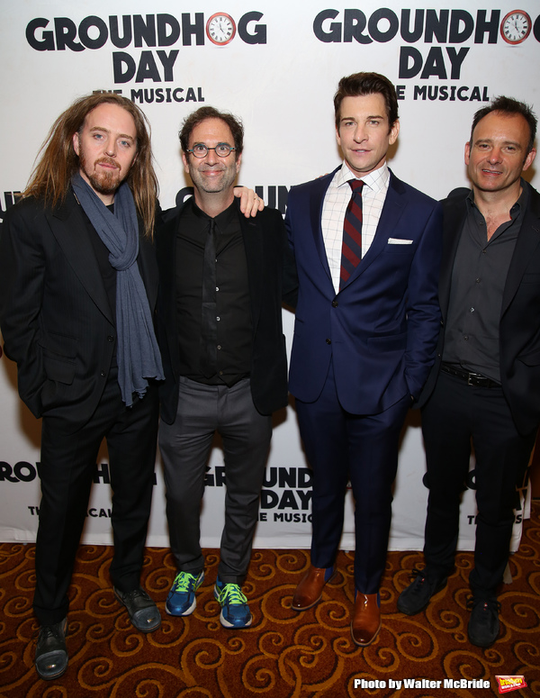 Tim Minchin, Danny Rubin, Andy Karl and Matthew Warchus
