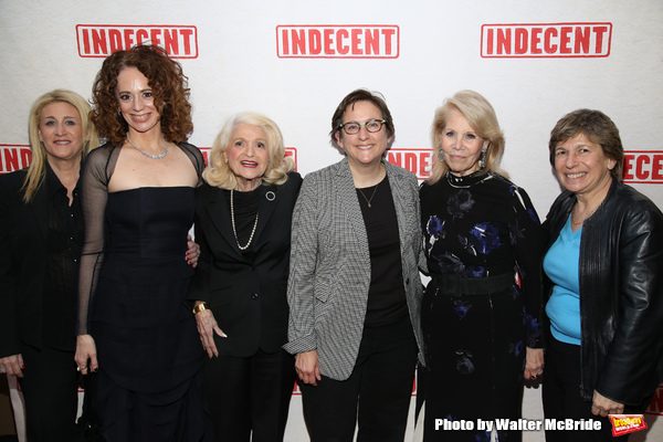 Judith Kasen, Rebecca Taichman, Rabbi Sharon Kleinbaum, Edie Windsor, Daryl Roth and Randi Weingarten