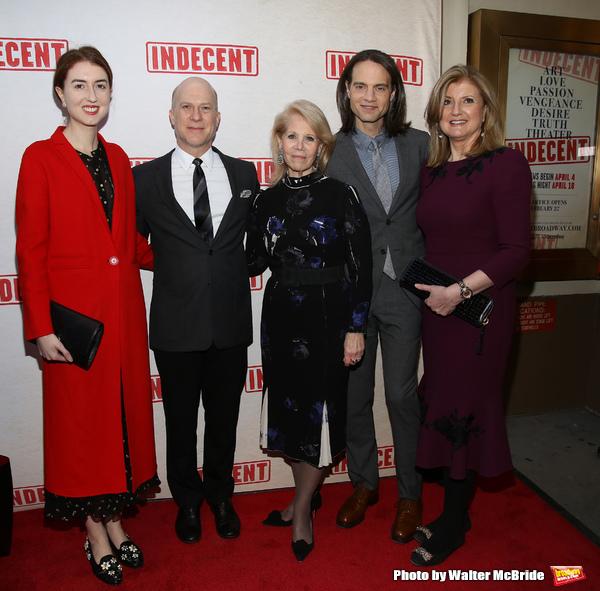 Isabella Huffington, Richie Jackson, Daryl Roth, Jordan Roth and Arianna Huffington  Photo