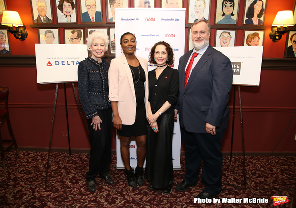 FREEZE FAME: Patina Miller and Bebe Neuwirth Announce the 2017 Drama League Nominees at Sardi's