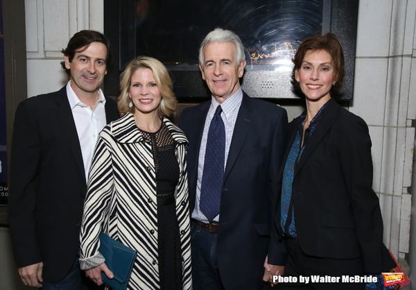 Greg Naughton, Kelli O'Hara, James Naughton and wife
