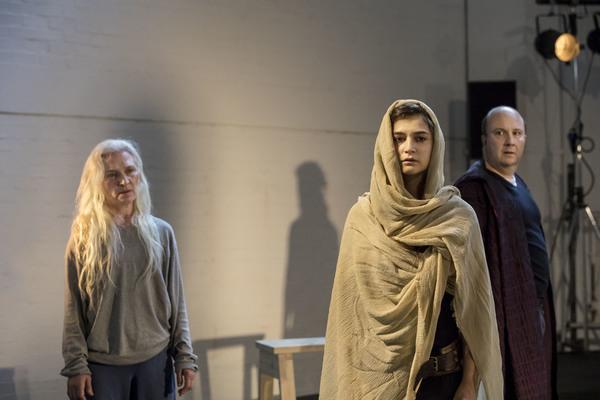 Olwen Fouere, Isabella Nefar, and Paul Chahidi