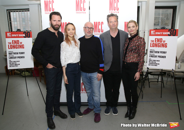 Quincy Dunn-Baker, Sue Jean Kim, Lindsay Posner, Matthew Perry and Jennifer Morrison
