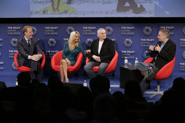 Robert Greenblatt, Kristin Chenoweth, Craig Zadan, Michael Schneider, Moderator