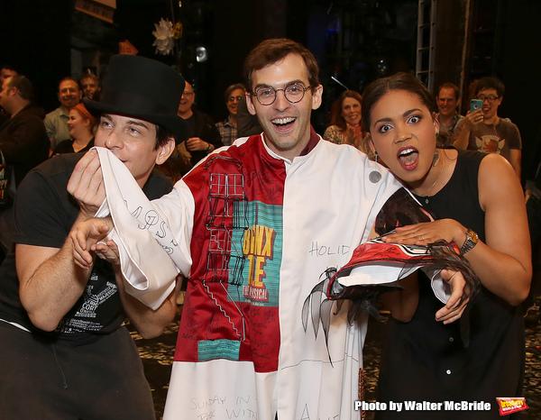 Andy Karl, Joseph Medeiros and Barrett Doss