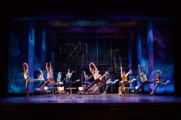 """The company performs in the LA MIRADA THEATRE FOR THE PERFORMING ARTS & McCOY RIGBY ENTERTAINMENT production of """"WEST SIDE STORY,"""" directed by Richard Israel and now playing at LA MIRADA THEATRE FOR THE PERFORMING ARTS."""